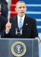 Obama gave priority to climate change in inaugural speech