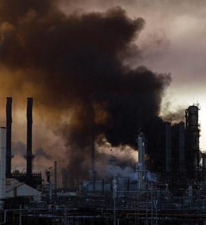 Fire struck the No. 4 crude unit at Chevron