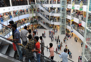 Indian shopping mall Rex Features
