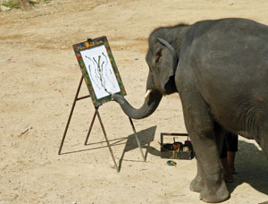 Elephant painting Rex Features