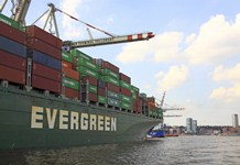 An Evergreen Line container ship