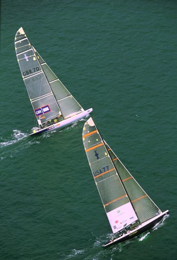 Sailing in Americas Cup, New Zealand 2003