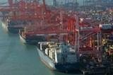 Busan port in South Korea