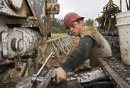 Shale gas worker