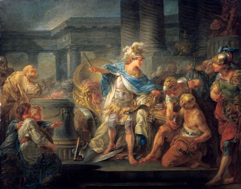 Alexander cutting the Gordian knot