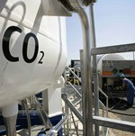 A carbon capture facility in Germany