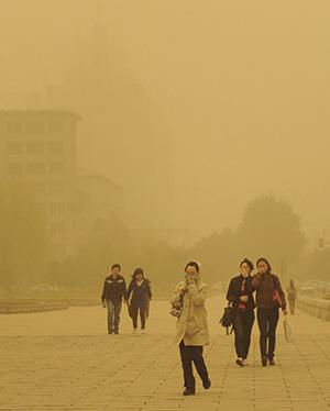 China smog Rex Features