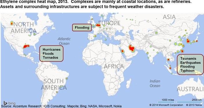Global ethylene complex heat map