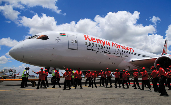 Kenya Airways 787 Rex Features