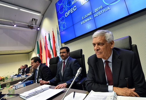 The benchmarks rallied close to $8.00/bbl last week on speculation that OPEC producers and Russia could agree to freeze output during September's International Energy Forum in Algeria. Above, OPEC secretary-general Abdallah Salem el-Badri attends the group's 169th last month. (Xinhua News Agency/REX/Shutterstock)