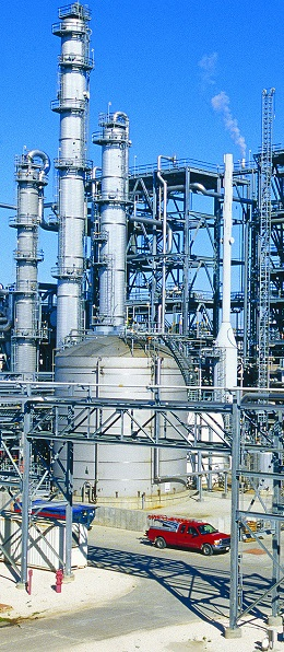 Products manufactured by Shell Chemical at Deer Park, Texas, include lower olefins, aromatics and phenol/acetone. (Photo: Shell Chemical)
