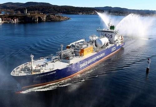 The MV JS INEOS Intrepid, loaded with approximately 265,000 bbl of ethane, set sail from Morgan