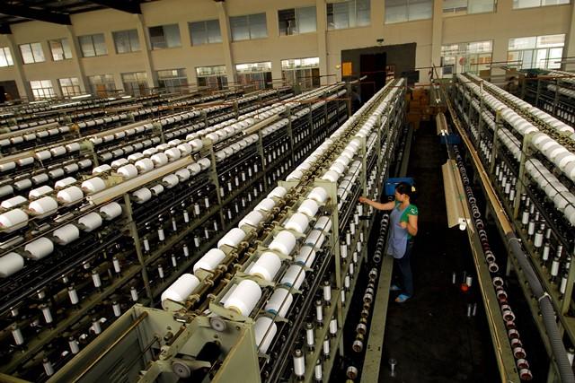 Nylon factory in Zhejiang, China