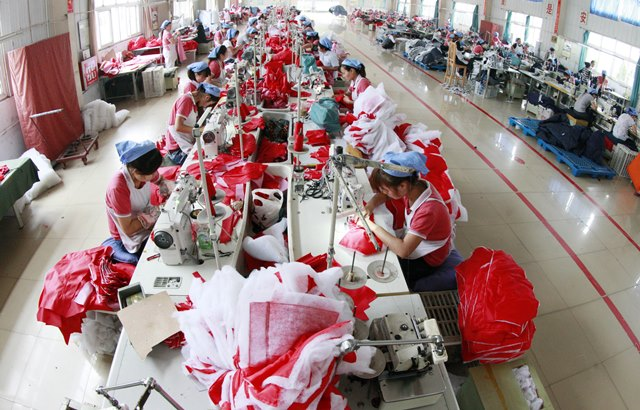 China garments factory 06 September 2016