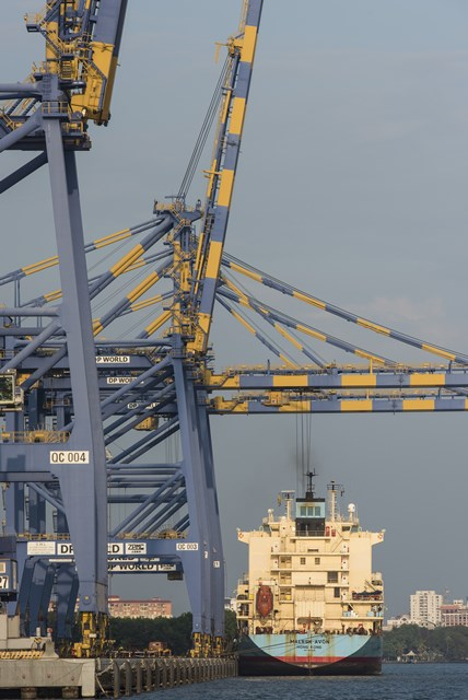 Kochi port in Kerala, India