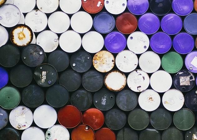 Large pile of petroleum barrels. Source - Mint Images, REX, Shutterstock