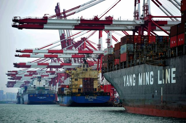Qingdao port in China