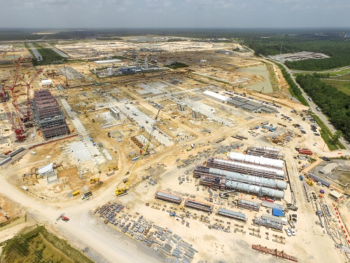 Aerial view of the complex site from Houston River Road in Westlake, Louisiana. (Sasol)