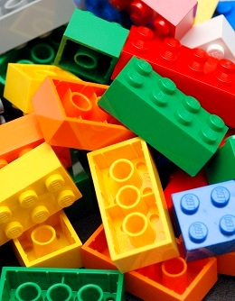 ABS used in Lego color bricks. (Alan Chia/Wikimedia)