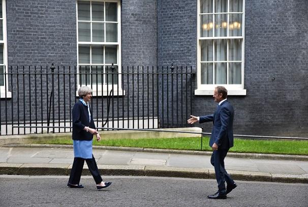 May, Tusk meet in London 6 April 2017
