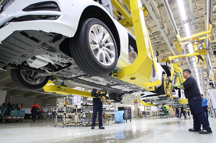Car manufacturing plant in China 12 May