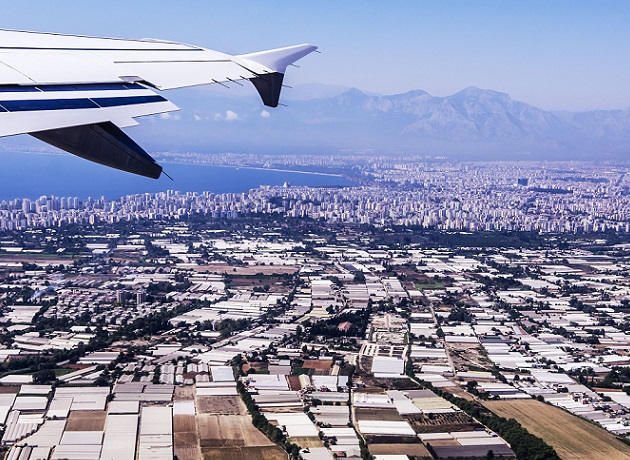 Air view of Turkey
