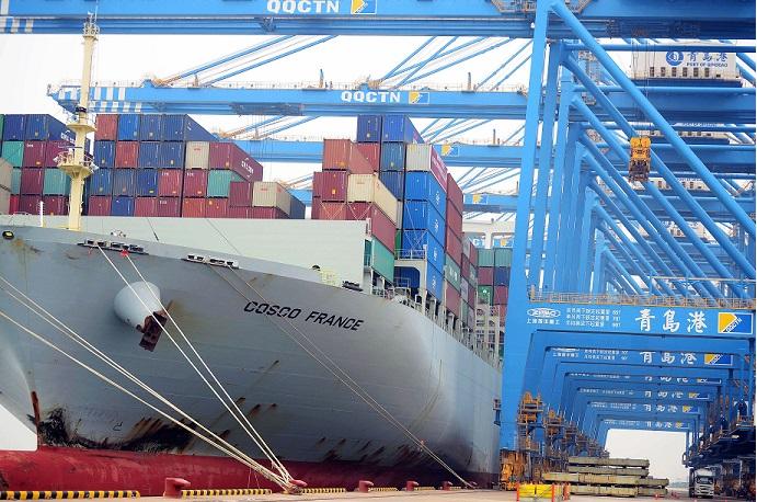 Qingdao Port in China 24 May