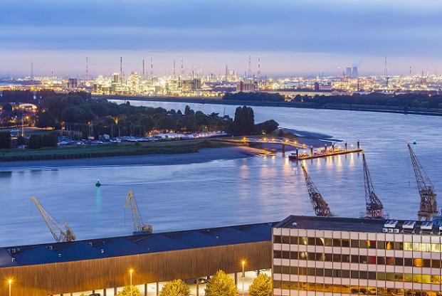 Antwerp harbour, industrial area