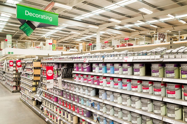 Tins of paint at a UK store. Source - Alex Segre, REX, Shutterstock