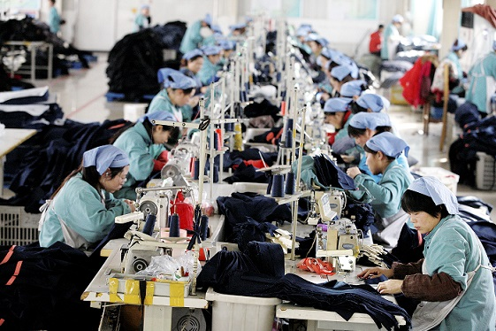 China garment factory 21 July