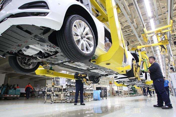 China car plant 26 July