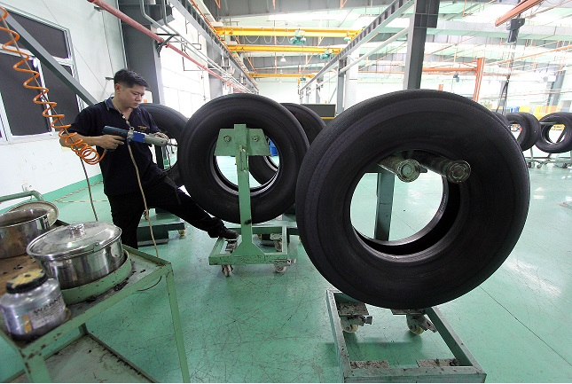 Car tyre factory in China 28 July