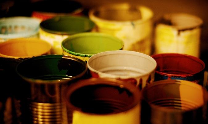 Open paint cans 11 August