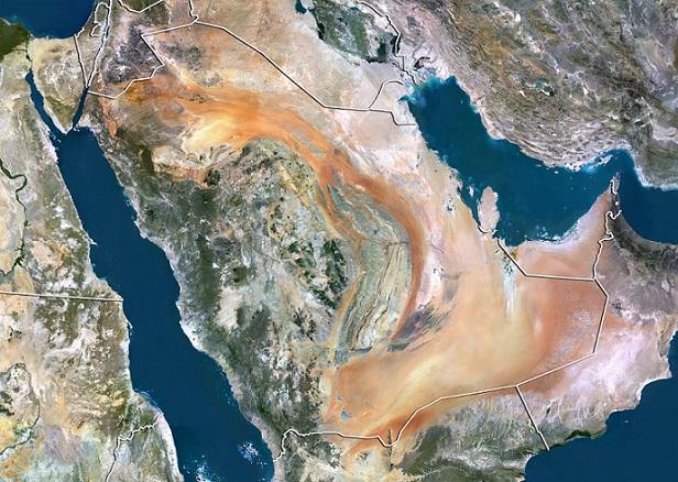 Satellite view of Saudi Arabia. Source: Planet Observer/UIG/REX/Shutterstock