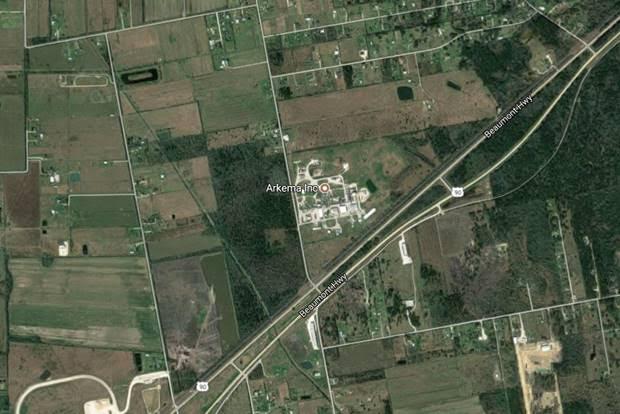 Arkema Crosby plant, Google Earth
