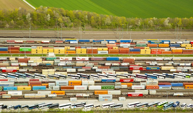Containers at a loading station near Munich, southern Germany. Source - Michael Steiner, imageBROKER, REX, Shutterstock