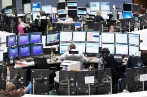 Frankfurt Stock Exchange trading floor (source: Uwe Kraft / imageBROKER/REX/Shutterstock)