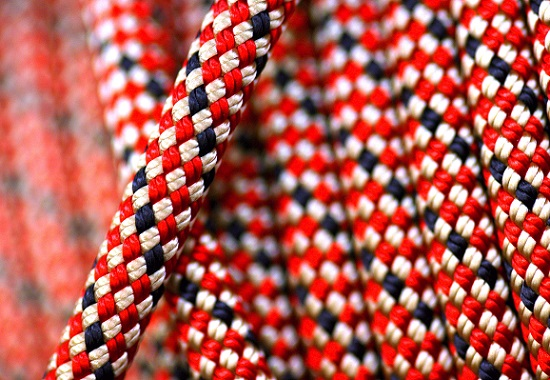 Roll of nylon climbing