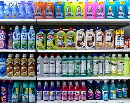 Detergents in a German supermarket (Source:Helmut Meyer zur Capellen / imageBROKER/REX/Shutterstock